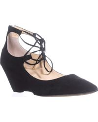 Ivanka Trump - Winogrand Wedge Lace Up Pointed Toe Court Shoes, Black Multi - Lyst