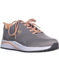 684ba157798c1 Lyst - Sam Edelman Britt Round Toe Suede Sneakers in Brown
