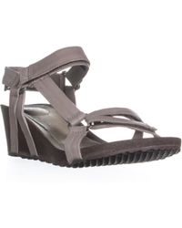 Teva - W Ysidro Universal Wedge Strap On Sandals - Lyst