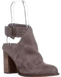 Lucky Brand - Galley Fringe Collar Ankle Booties - Lyst