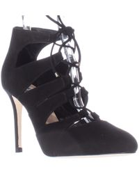 L.K.Bennett Honour Caged Lace Up Heels - Black