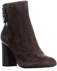 Belstaff Astel Block Heel Ankle Zip Boots - Brown