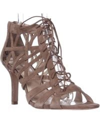 Pour La Victoire Charlize Cut-out Lace Up Dress Sandals - Cigar - Brown