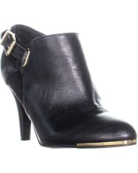 Marc Fisher - Cyril3 Side Zip Ankle Buckle Boots - Lyst