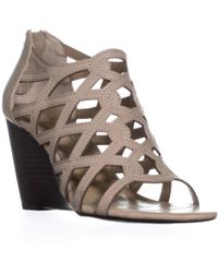 Adrienne Vittadini - Alby Caged Wedge Sandals - Lyst