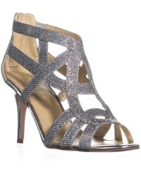 Marc Fisher Nala3 Strappy Dress Sandals - Metallic