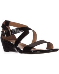 Söfft - Innis Cross Strap Wedge Sandals - Lyst