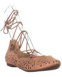 Nine West - Zavanna Lace Up Ballet Flats - Lyst