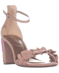 Kenneth Cole - Rise Ruffle Ankle-strap Sandals - Lyst