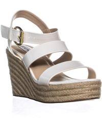 Steve Madden Valery Platform Wedge Sandals - White