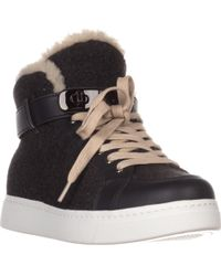 COACH - Richmond Fleece Lined High Top Fashion Trainers - Lyst