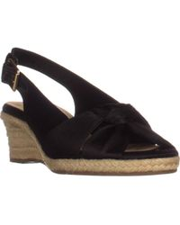 Bella Vita Seraphina Ii Espadrille Wedge Sandals - Black