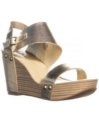 Lucky Brand - Marleighh Ankle Strap Wedge Sandals - Lyst