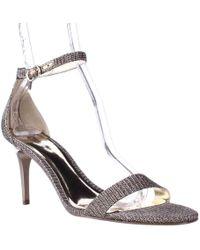 Carlos By Carlos Santana Sunset Ankle Strap Dress Sandals - Metallic