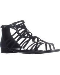 Marc Fisher - Partner Ankle Strap Flats Sandals - Lyst
