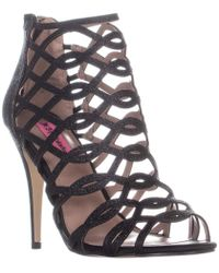 0e8b58b4796 Lyst - Betsey Johnson Glissten Ankle Strap Sandals in Black
