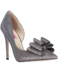 Betsey Johnson - Prince Dorsay Bow Toe Court Shoes - Lyst