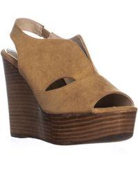 Callisto Franklin Wedge Sandals - Brown