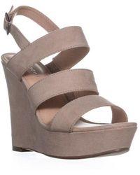 Madden Girl - Blenda Wedge Ankle Strap Sandals - Lyst