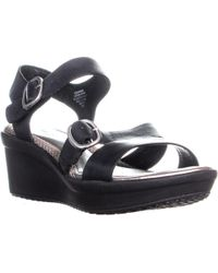 Easy Spirit - Charisma Ankle Strap Comfort Wedge Sandals - Lyst