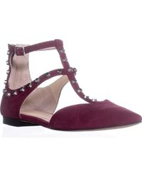 Marc Fisher Sava Pointed Toe Ankle Strap Sandals - Pink