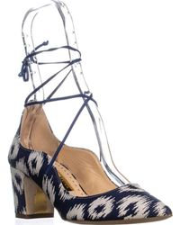 Rupert Sanderson Poet Lace Up Pumps - Blue