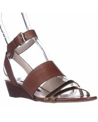 French Connection Wiley Ankle-strap Wedge Sandals - Brown