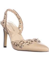 Adrienne Vittadini Nika Perforated Pointed Toe Heels - Natural