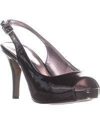 Rampage - Fasher Peep Toe Slingback Court Shoes, Black Patent - Lyst