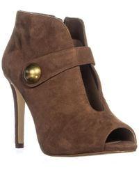 Michael Kors Michael Agnes Studded Cut-out Pointed Toe Heels - Brown
