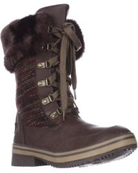Rocket Dog Suri Horizon Knit Mid-calf Winter Boots - Multicolour