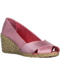 Lauren by Ralph Lauren - Lauren Ralph Lauren Cecilia Peep Toe Espadrille Wedge Court Shoes - Lyst