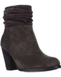 Vince Camuto - Hesta Scrunch Ankle Boots - Charcoal Grey - Lyst