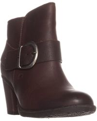 Born - Cille Pull-on Block Heel Booties - Lyst