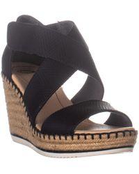 Dr. Scholls Vacay Espadrille Wedge Sandals - Black