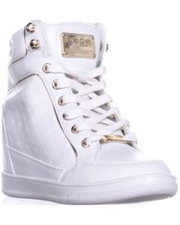Bebe - Calissa High-top Trainers - Lyst