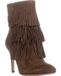 Via Spiga - Vesta Fringe Dress Boots - Lyst