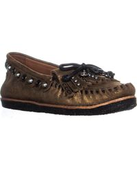 COACH - Roccasin Studded Moccasins - Lyst