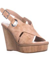 BCBGeneration Penelope Open Toe Wedge Sandals - Multicolour