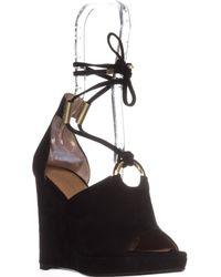Calvin Klein - Ramona T-strap Wedge Sandals - Lyst