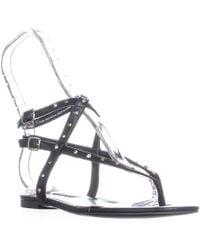 Nine West - Simcha Flat Double Buckle Strap Sandals - Lyst