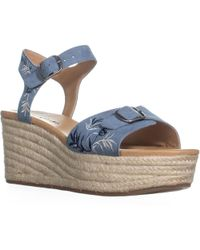 Lucky Brand - Naveah2 Embroidered Wedge Sandals - Lyst