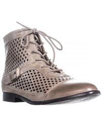 Kensie - Rahi Perforated Lace Up Ankle Boots - Lyst