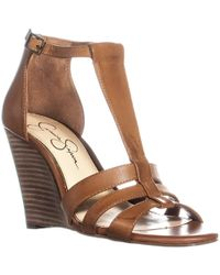 Jessica Simpson - Mccorde Wedge Sandals - Lyst