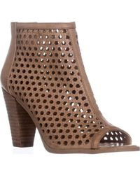 Report Ronan Perforated Ankle Booties - Brown