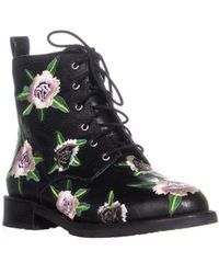Rebecca Minkoff - Gerry Embroidery Lace Up Combat Boots - Lyst