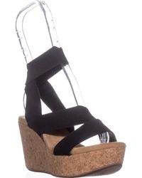Splendid Gavin Strappy Wedge Heels - Black