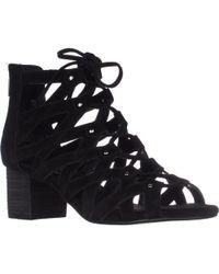 Aerosoles Middle Ground Lace-up Sandals - Black