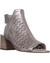 d9cb8262b8981 Vince Camuto - Sternat Perforated Block Heel Boots - Lyst