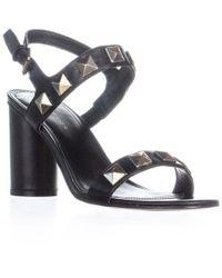 Marc Fisher - Panna Ankle Strap Sandals, Black - Lyst